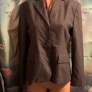 Ralph Lauren 100% wool size 6 pin stripe gray